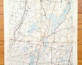 China Lake Maine Map.China Rivers Map Etsy