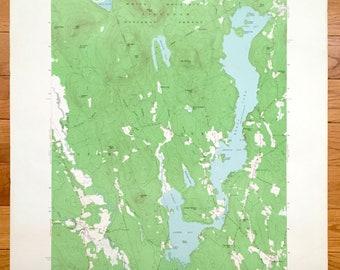 Lovell Maine Map.Lovell Maine Etsy