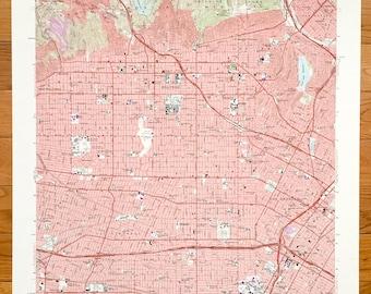 Brea map | Etsy