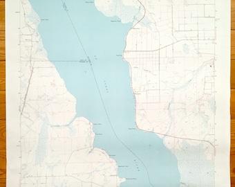 Deep Creek Florida Map.Deep Creek Map Etsy