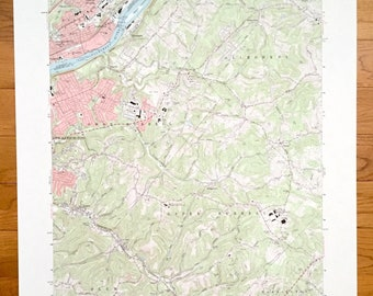 Allegheny county map | Etsy on