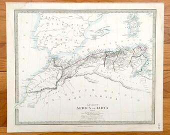 Antique tunisia map | Etsy