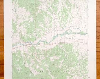 Rio Grande River Map Etsy - Rio-grande-on-us-map