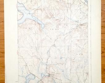 Aroostook County Map Etsy