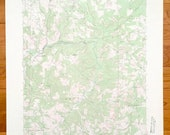 Antique Rochester Mills, Pennsylvania 1968 US Geological Survey Topographic Map Indiana County, Canoe, Grant, Montgomery, Banks, Hillsdale