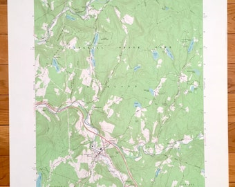 24x36 Vintage Reproduction Historic Map Delhi New York Delaware County 1887