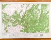 Antique Cedar City, Utah 1962 US Geological Survey Topographic Map St. George, Parowan, Panguitch, Kanab, Hurricane, Escalante Desert
