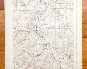 rushford lake ny map Rushford Lake Ny Map Etsy rushford lake ny map