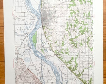 Marion Il Map Etsy