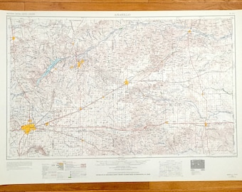 Pampa texas map | Etsy on