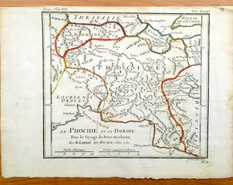 Corinth Map Etsy