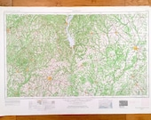 Antique Dothan, Alabama 1953 US Geological Survey Topographic Map Fort Rucker, Enterprise, Ozark, Headland, Ashford, Georgia, Florida