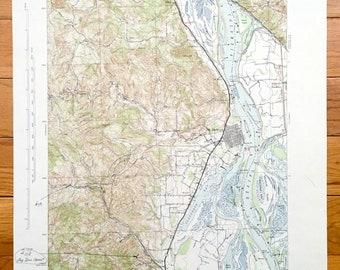 Antique Walla Walla Washington 1921 Us Geological Survey Etsy - Columbia-river-map-us