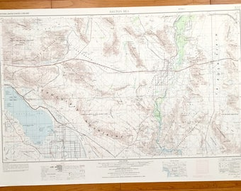 Joshua Tree Topographic Map.Joshua Tree Map Etsy