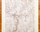 Antique Titusville, Pennsylvania 1933 US Geological Survey Topographic Map - Rome, Eldred, Southwest, Cherry Tree, Oakland, Cornplanter