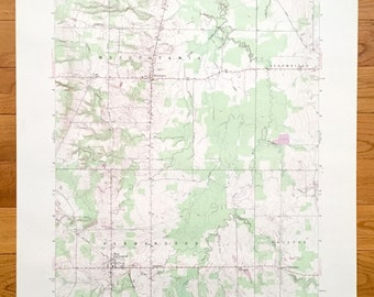 Orwell Ohio Map.Trumbull County Map Etsy