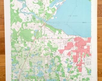 Map Of Sanford Florida.Sanford Map Etsy
