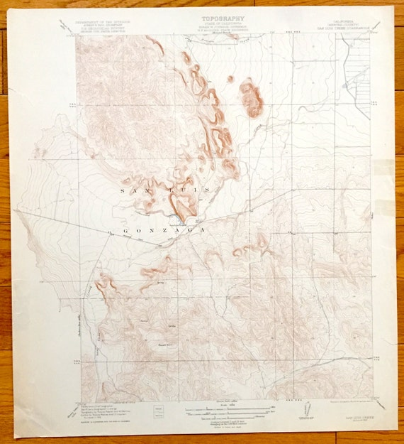 Pacheco California Map.Antique San Luis Creek California 1922 Us Geological Survey Etsy