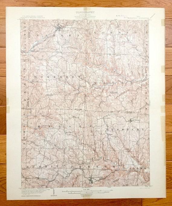 Woodsfield Ohio Map.Antique Woodsfield Ohio 1905 Us Geological Survey Topographic Etsy