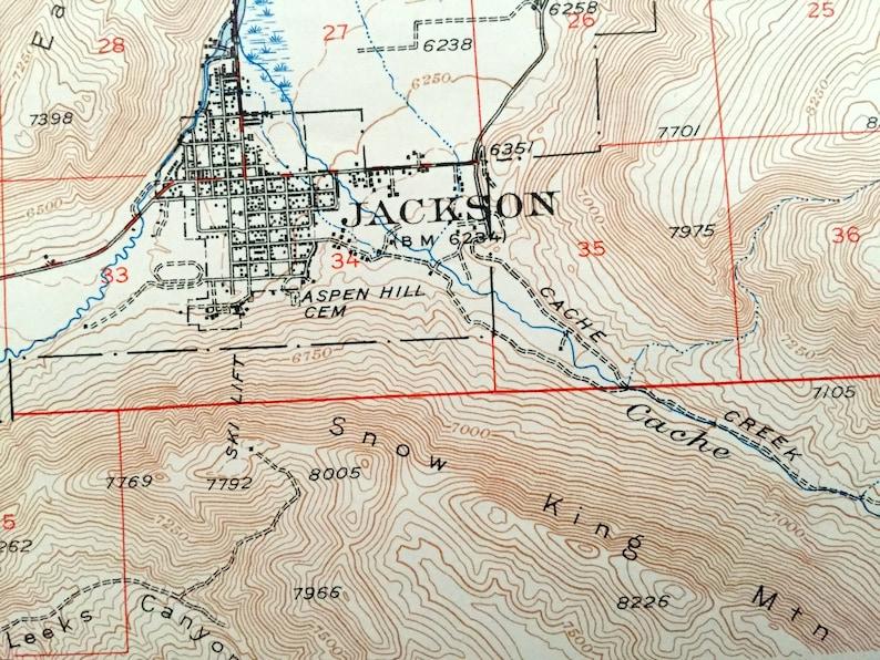Antique Grand Teton National Park, Wyoming 1948 US Geological Survey  Topographic Map – Jackson Hole, Snow King Mountain, Targhee, Elk, Moose