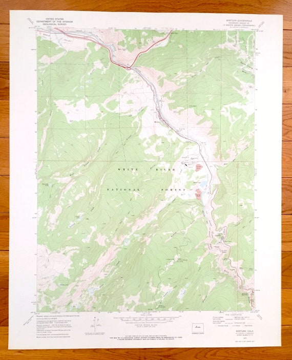 Minturn Colorado Map.Antique Minturn Colorado 1970 Us Geological Survey Etsy