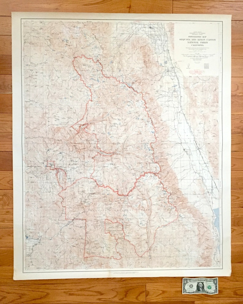 Antique Sequoia Kings Canyon National Park California 1948 Etsy