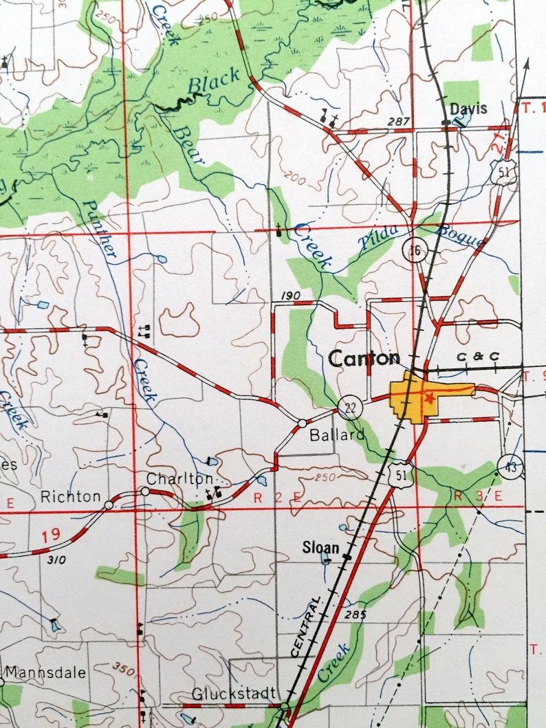 Van Winkle Edwards Mississippi 1962 US Geological Survey Topographic Map \u2013  Vicksburg Yazoo City Clinton Raymond Antique Jackson