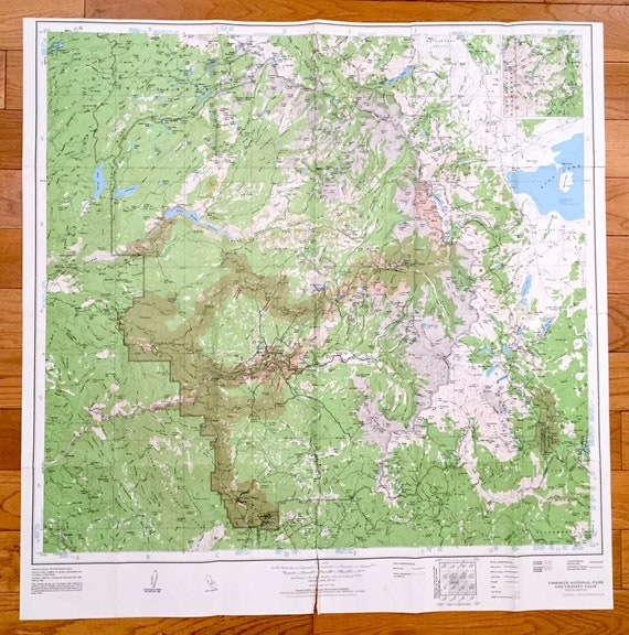 Antique Yosemite National Park California 1982 US Geological | Etsy