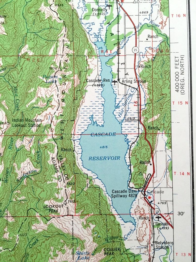 Idaho OR Oregon 1955 US Geological Survey Topographic Map \u2013 Ontario Wingville Whitman National Forest Snake River Brogan Antique Baker