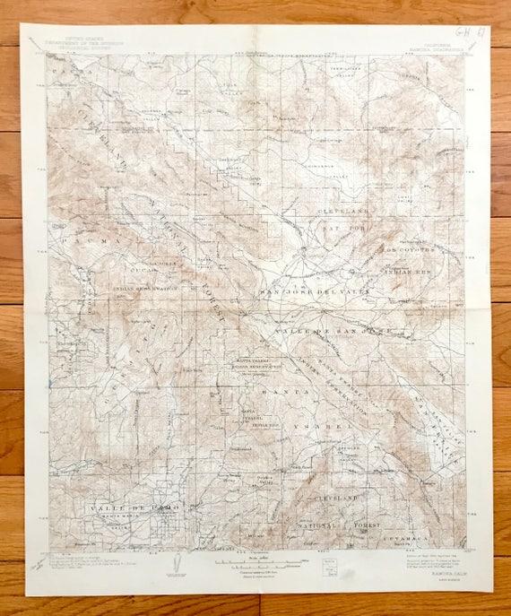 Antique Ramona California 1903 US Geological Survey   Etsy