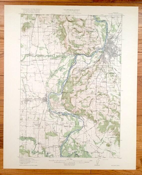 Antique Salem, Oregon 1917 US Geological Survey Topographic Map – on west oregon map, salem witch trials map, salem new york, salem illinois, salem oregon, salem state map,