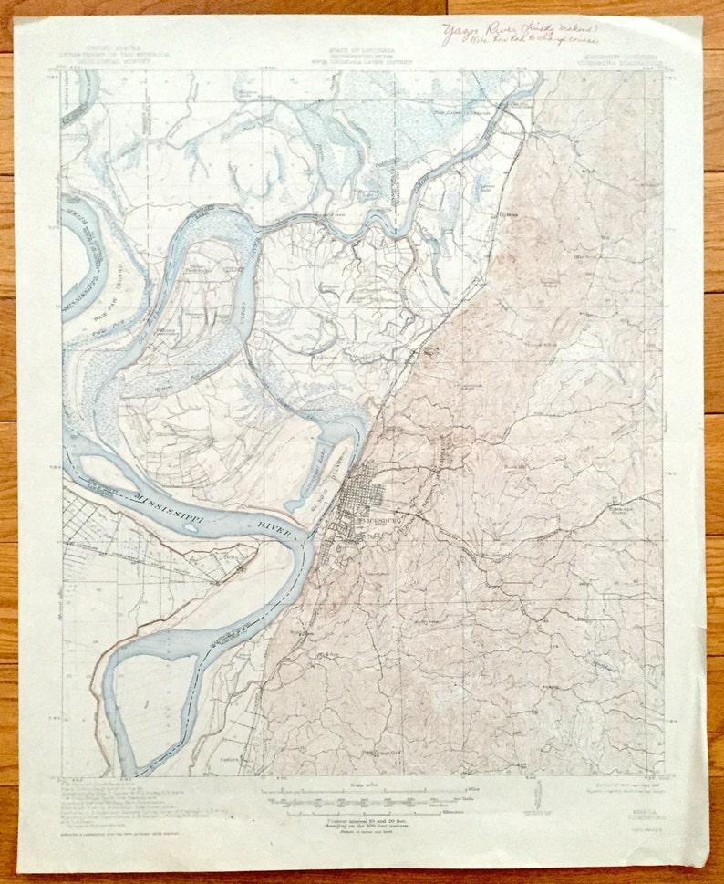 Antique Vicksburg Mississippi 1918 Us Geological Survey Etsy - Vicksburg-on-us-map