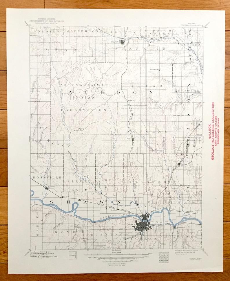 Antique Topeka, Kansas 1894 US Geological Survey Topographic Map – on columbus river map us, chattahoochee river map us, san joaquin river map us, brazos river map us,