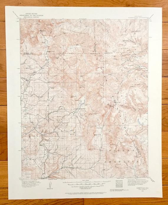 Colorado Karte Fluss.Antike Summitville Colorado 1913 U S Geologische Ubersicht Topographische Karte Rio Grande Mineral Archuleta Conejos County San Juan Gebirge