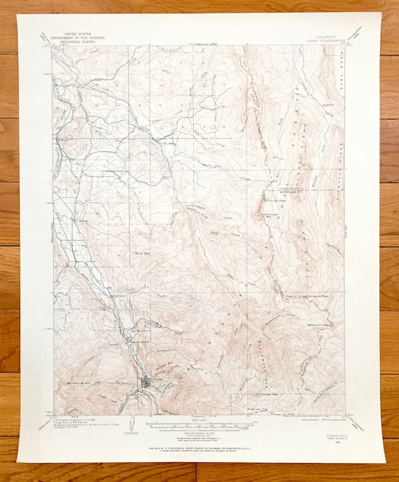 Antique Ouray Colorado 1902 US Geological Survey Topographic | Etsy