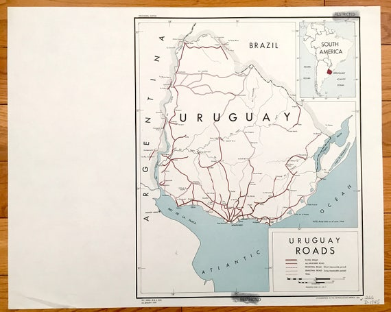 Antique Uruguay 1945 Road Map – Formerly Confidential US Government on road map biology, features south america, destination south america, road map scandinavia, library south america, camping south america, driving in columbia south america, road map brazil, road map buenos aires, hotels south america, water south america, trip south america, road map anguilla, road map zimbabwe, tourist south america, landlocked country south america, lake nicaragua map central america, road map martinique, blog south america, road map suriname,