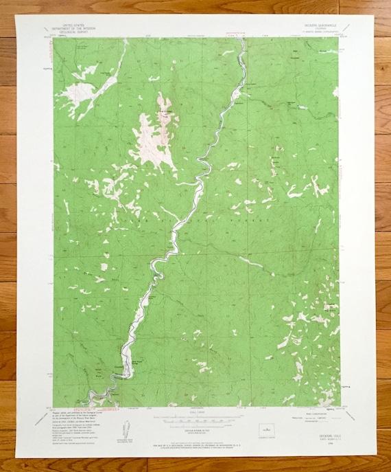 Deckers Colorado Map.Antique Deckers Colorado 1954 Us Geological Survey Etsy