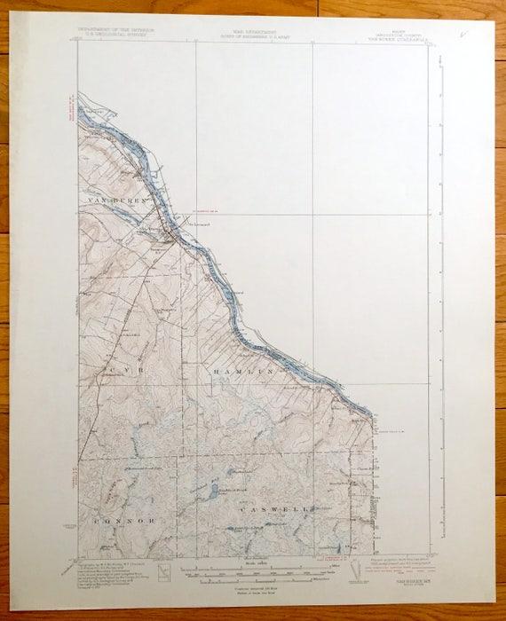 St John River Maine Map.Antique Van Buren Maine 1934 Us Geological Survey Topographic Etsy