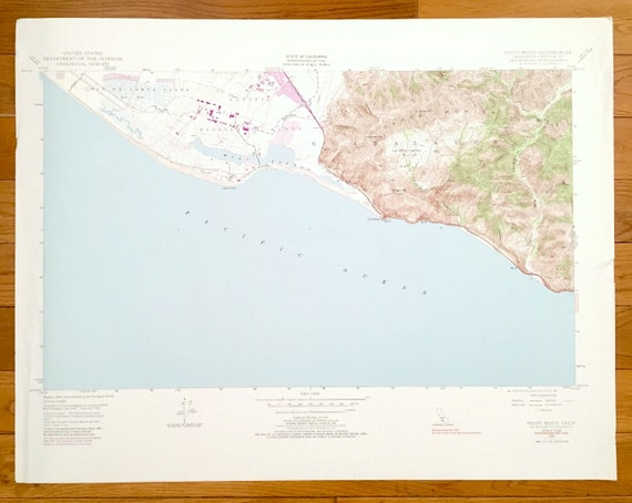 Point Mugu California Map.Antique Point Mugu California 1949 Us Geological Survey Etsy
