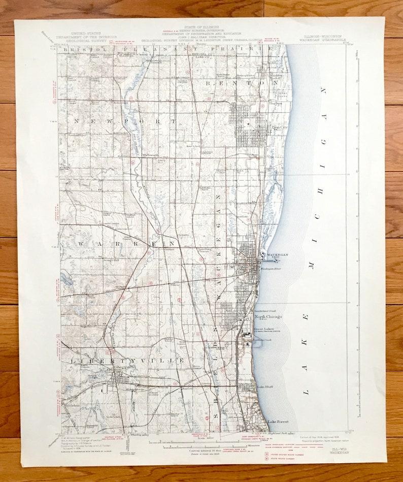 Antique Waukegan, Illinois 1908 US Geological Survey Topographic Map on mcnabb illinois map, city of monticello illinois map, highwood illinois map, mt prospect illinois map, lake in the hills illinois map, bethalto illinois map, steward illinois map, old shawneetown illinois map, west chicago illinois map, highland park map, i 80 illinois map, illinois illinois map, scott air force base illinois map, racine illinois map, wood dale illinois map, timewell illinois map, east st louis illinois map, red illinois map, witt illinois map, cullom illinois map,