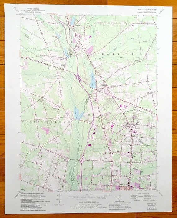 Antique Newfield, New Jersey 1953 US Geological Survey Topographic on penns grove map, deptford township map, stone city map, randolph map, new jersey motorsports park map, summit map, browns mills map, flemington map, new jersey location map, oaklyn map, barnegat township map, haddonfield map, cherry hill map, avalon manor map, keansburg map, estell manor map, bayonne map, white house station map, westville map, southampton township map,
