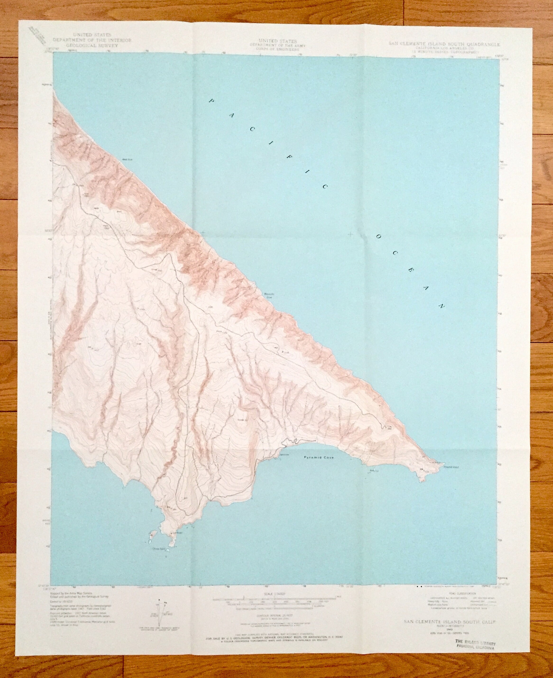 Antique San Clemente Island South California 1943 US   Etsy on