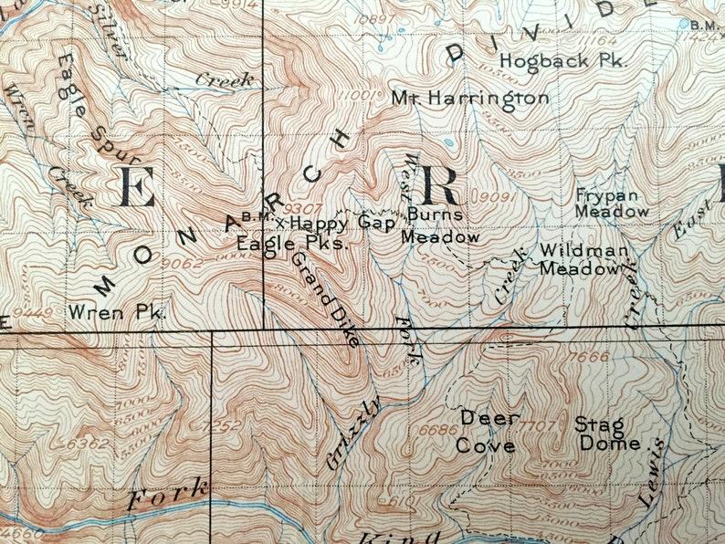 Antique Tehipite California 1905 Us Geological Survey Etsy