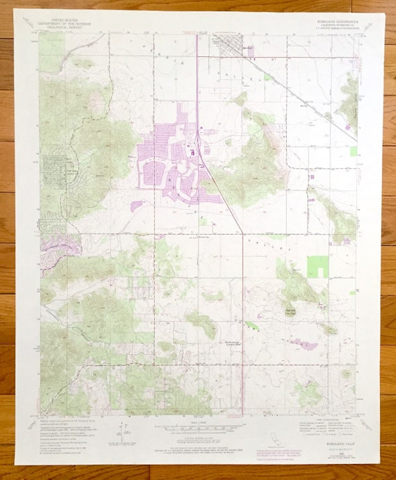 Antique Romoland California 1953 Us Geological Survey Etsy