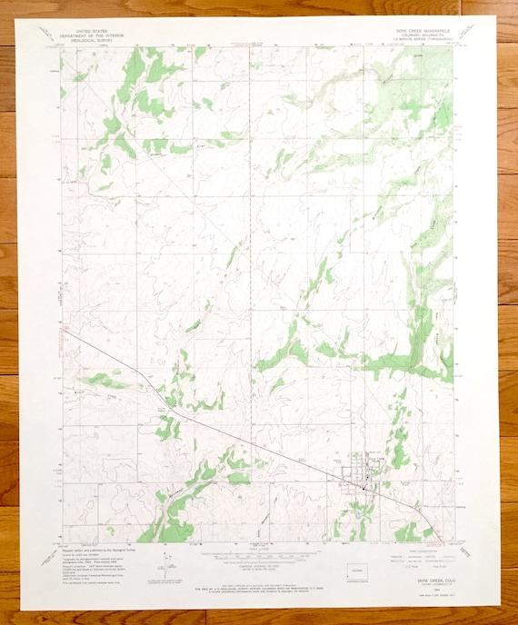 Dolores River Colorado Map.Antique Dove Creek Colorado 1964 Us Geological Survey Etsy