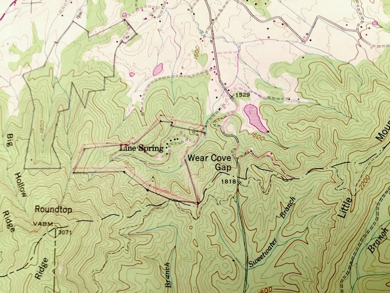 Hatchertown Antique Wear Cove Tennessee 1953 US Geological Survey Topographic Map \u2013 Sevier County Great Smoky Mountains National Park TN