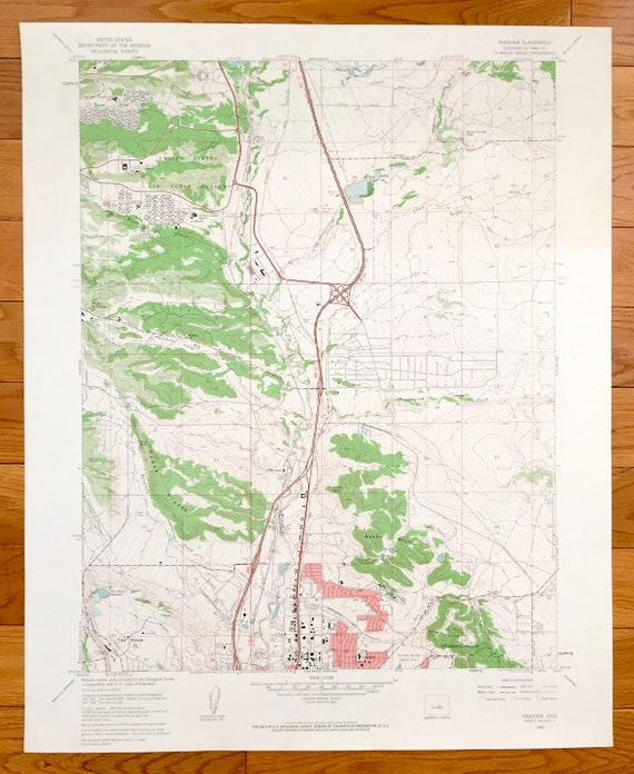 Topographic Map Colorado Springs.Antique Pikeview Colorado 1961 Us Geological Survey Etsy