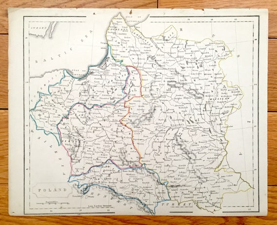 Antique 1850 Map of Poland, Prussia, Galicia, Lithuania & Russia from on lithuanian surrounding countries, denmark neighboring countries, estonia's neighboring countries, latvian and surrounding countries, baltic countries, poland neighboring countries, lithuania's neighboring countries, sweden neighboring countries, lithuania world maps with countries, denmark and surrounding countries, latvia neighbouring countries,