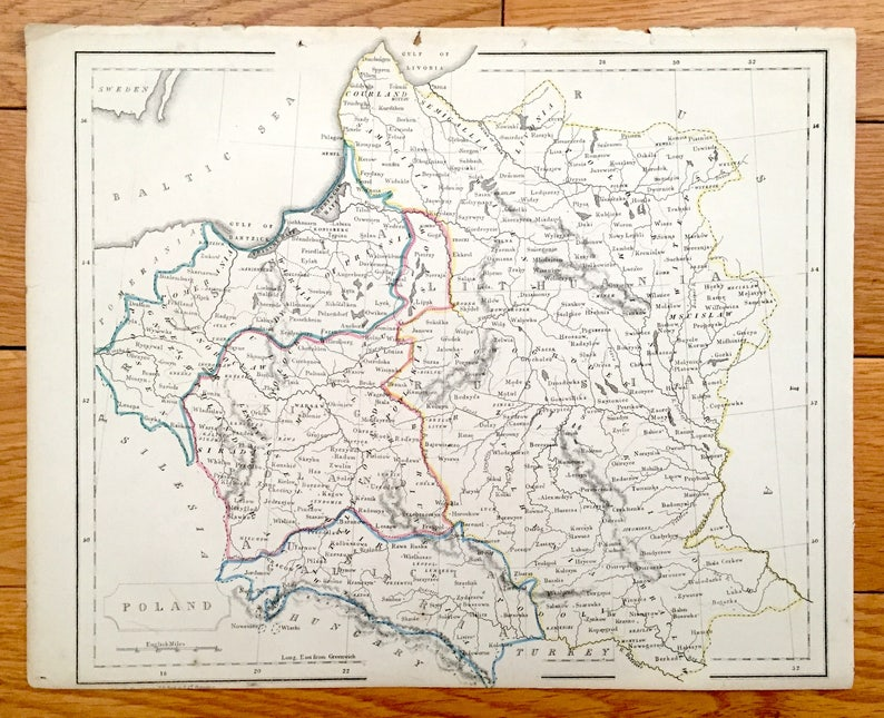 Antique 1850 Map of Poland, Prussia, Galicia, Lithuania & Russia from on moscow map, sarajevo map, jiangmen city map, carpathian mountains map, malopolska map, bregenz austria map, poznan map, naples map, venice map, poland map, kovno map, mielec map, wawel castle map, paris charles de gaulle map, gdansk map, stettin map, singapore hotel map, cracovia polonia map, milan map, transilvania map,