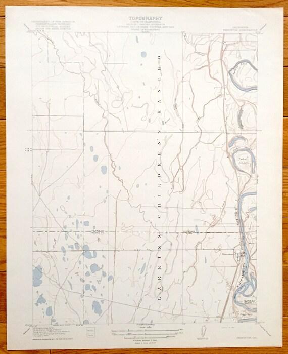 Glenn County California Map.Antique Princeton California 1918 Us Geological Survey Etsy